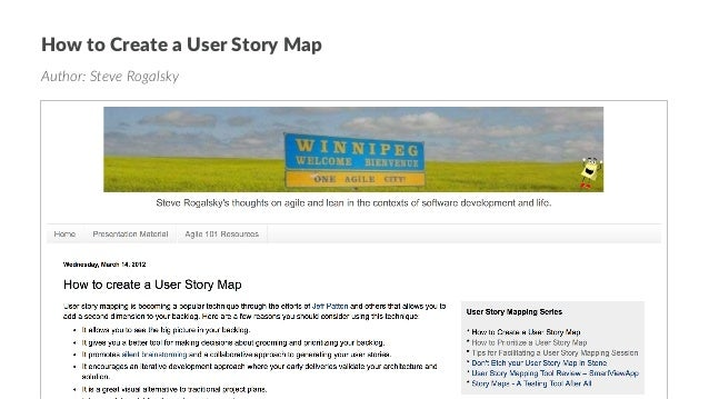 User Story Mapping 101 on