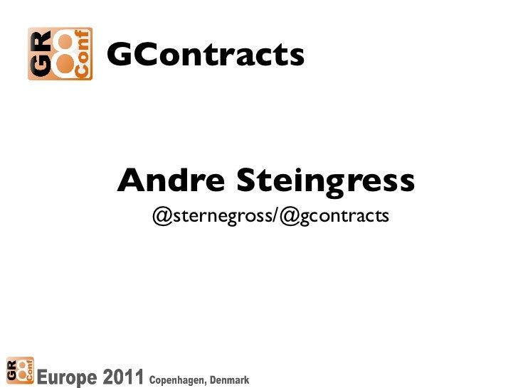GContractsAndre Steingress  @sternegross/@gcontracts