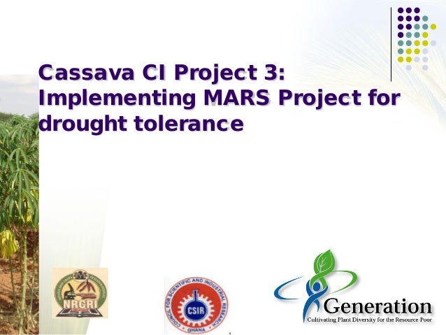 Cassava CI Project 3: Implementing MARS Project for drought tolerance