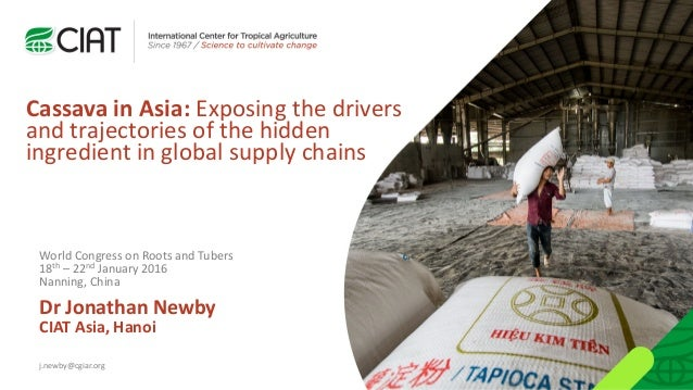 Cassava in Asia: Exposing the drivers and trajectories of the hidden ingredient in global supply chains Dr Jonathan Newby ...