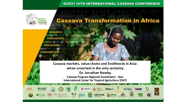 Cassava markets, value chains and livelihoods in Asia: when uncertain is the only certainty Dr. Jonathan Newby Cassava Pro...