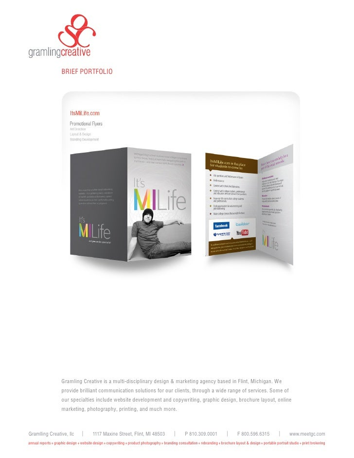 BRIEF PORTFOLIO                          Gramling Creative is a multi-disciplinary design & marketing agency based in Flin...