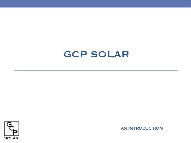GCP SOLARAN INTRODUCTION