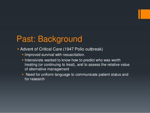 Glasgow Coma Scale - Past Present Future Slide 3