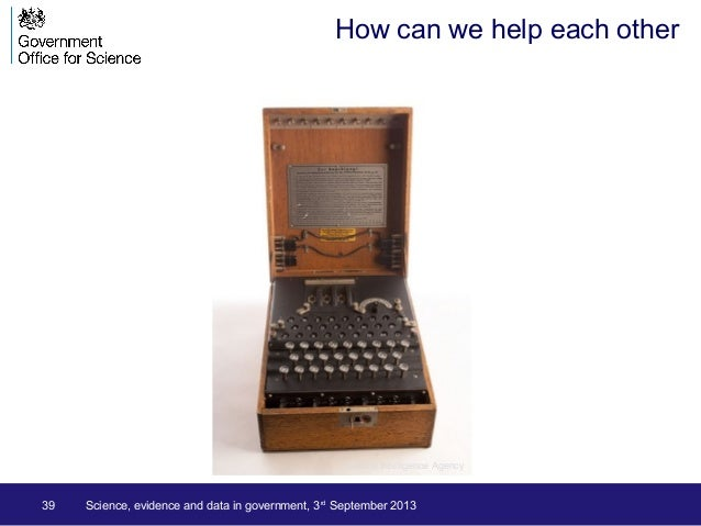 39 How can we help each other Science, evidence and data in government, 3rd September 2013 Central Intelligence Agency