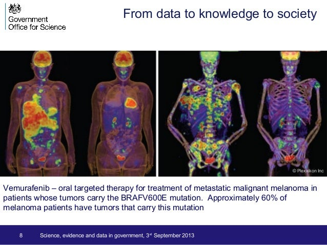 8 Science, evidence and data in government, 3rd September 2013 Vemurafenib – oral targeted therapy for treatment of metast...