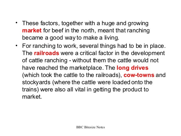 american west cattle industry revision The cattle industry developed in the united states due to the nation's unique  to  transport the beef from western ranches to population centers in the midwest.