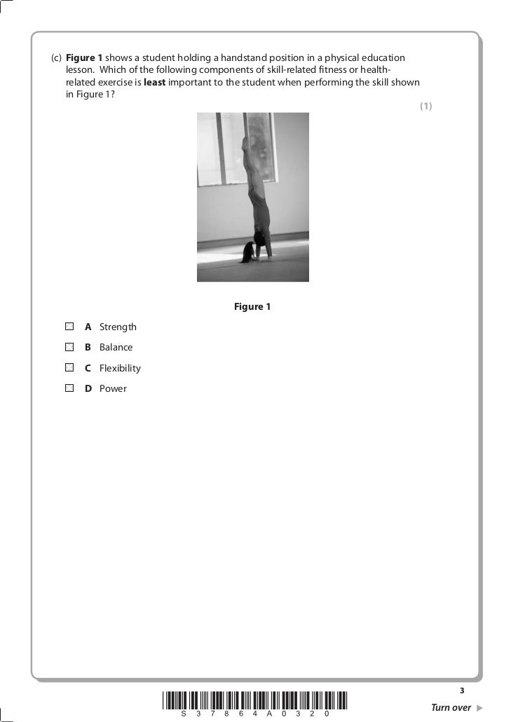 GCSE PE Sample Q's 2009  Slide 3