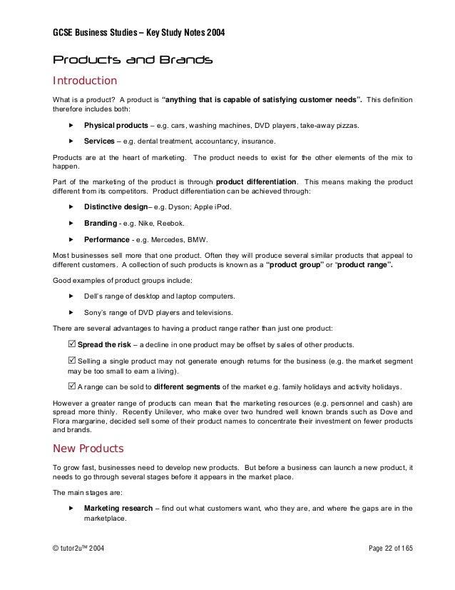 GCSE Business Notes