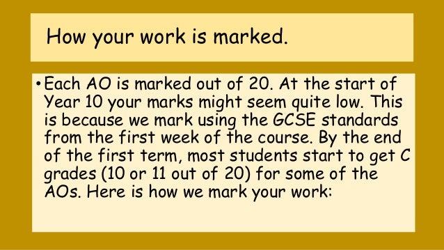 We do gcse coursework