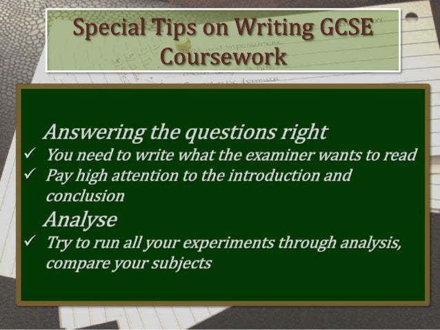 Gcse assignment coursework help