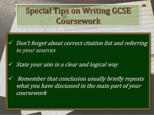 Gsce coursework help