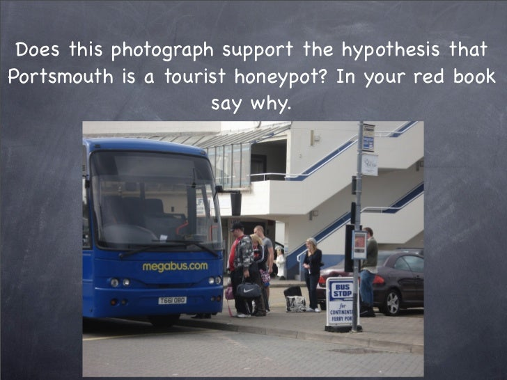Does this photograph support the hypothesis that Portsmouth is a tourist honeypot? In your red book                      s...