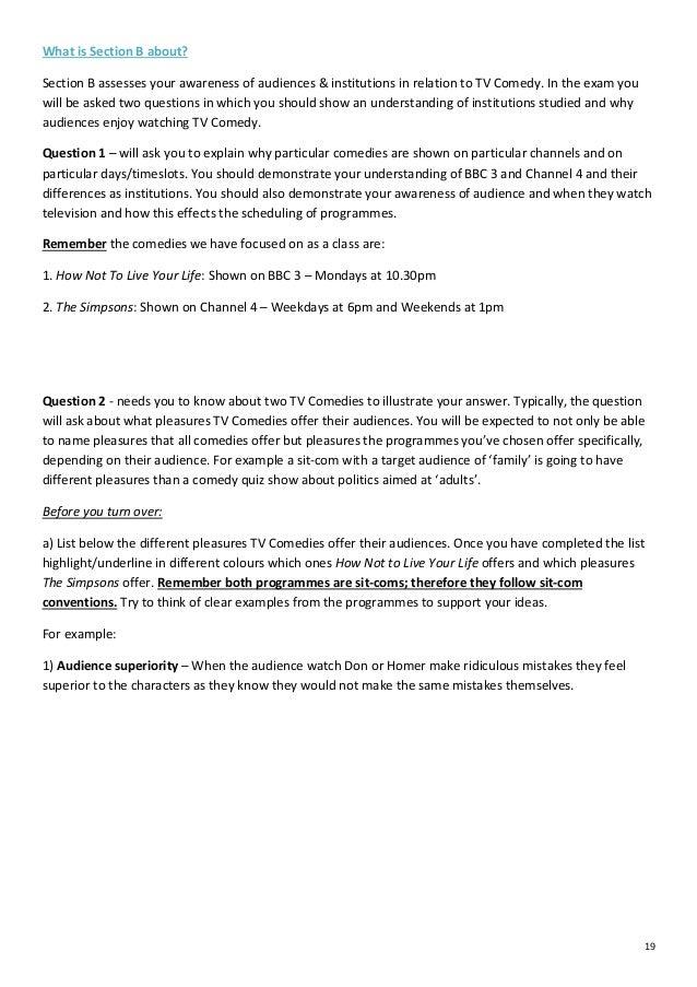 GCSE Media Studies - Exam Revision Pack