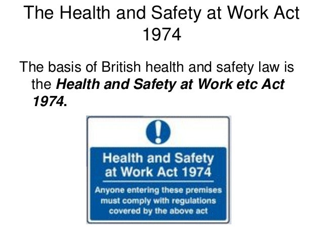 the health and safety at work act 1974 construction essay The aim of the health and safety at work act 1974 (hswa 1974) was to create a  single comprehensive system of regulatory law covering occupational health.