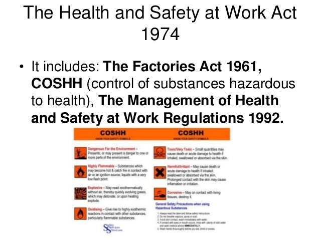 managing health and safety at work act essay Employers' responsibilities to employees regarding health and safety  under the safety, health and welfare at work act 2005 the employee may not be.