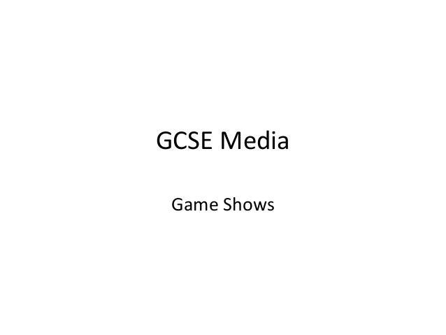 GCSE Media Game Shows