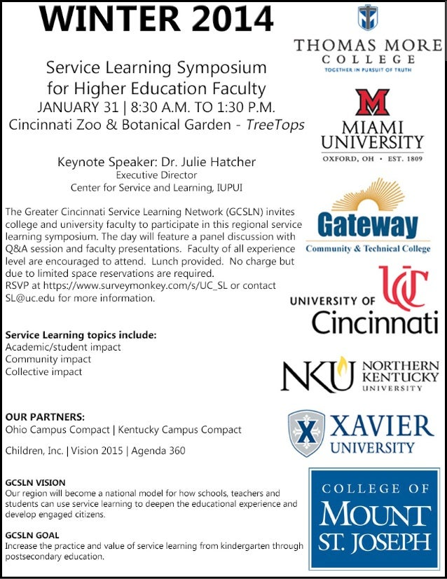 Greater Cincinnati Service Learning Symposium for Higher Education Faculty
