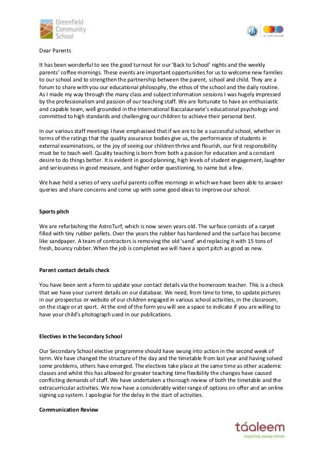 Gcs principal letter to parents sept 2014 dear parents it has been wonderful to see the good turnout for our back to thecheapjerseys Images