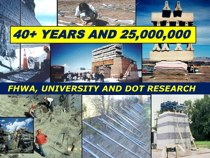 40+ YEARS AND 25,000,000FHWA, UNIVERSITY AND DOT RESEARCH