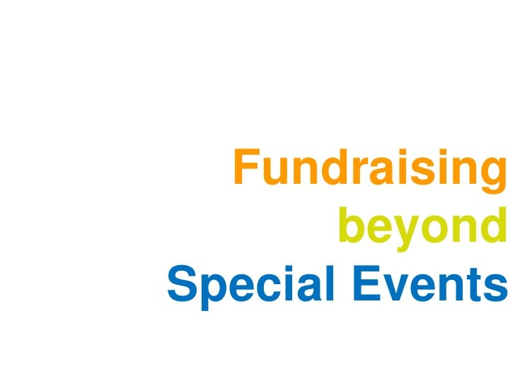 Fundraising       beyondSpecial Events