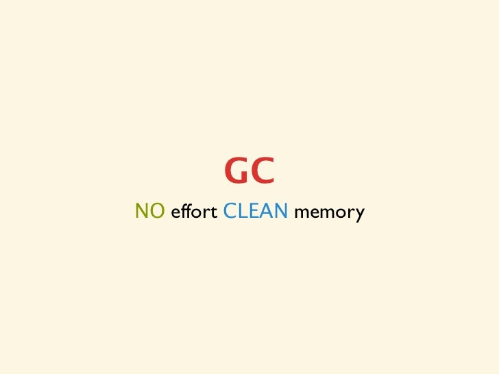 GCNO effort CLEAN memory
