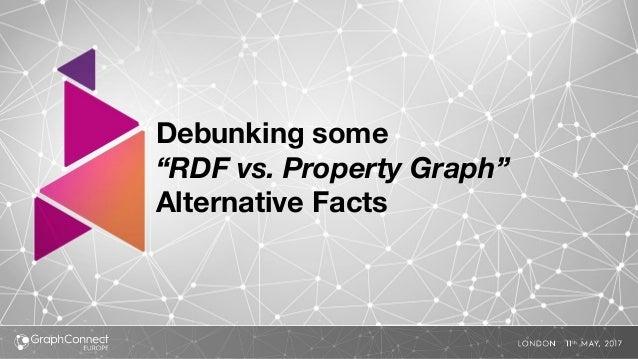 "Debunking some ""RDF vs. Property Graph"" Alternative Facts"