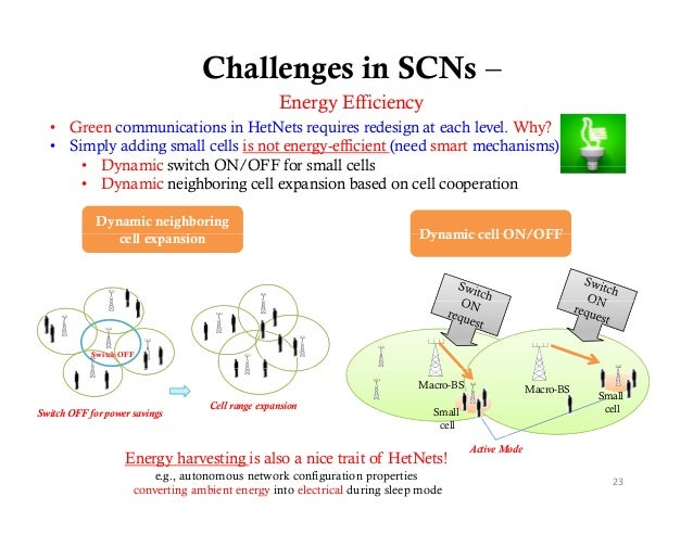 Challenges in SCNs –                                                  Energy Effi i                                       ...