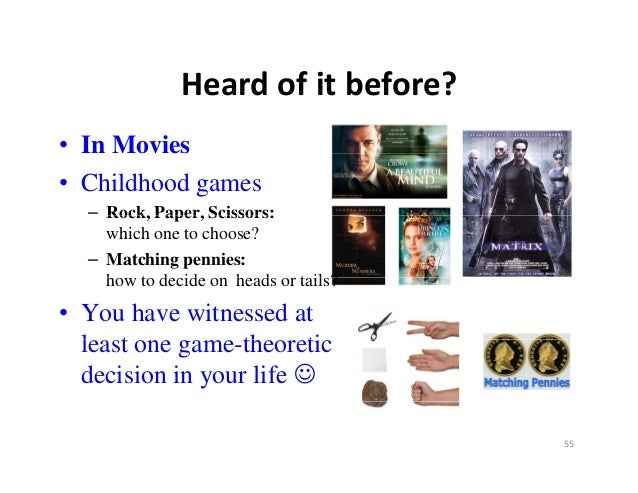 Heardofitbefore?             Heard of it before?• In Movies• Childhood games  – Rock, Paper, Scissors:    which one to ...