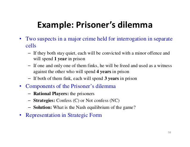 prisoners dilemma essay example The typical prisoner's dilemma is set up in such a way that both parties choose to protect themselves at the expense of suppose, for example, that two friends, dave and henry, are suspected of committing a crime and are being panama papers: top 10 banks for offshore companies.