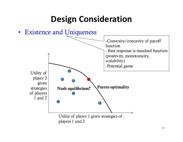 DesignConsideration• Existence and Uniqueness                                             -Convexity/concavity of payoff ...