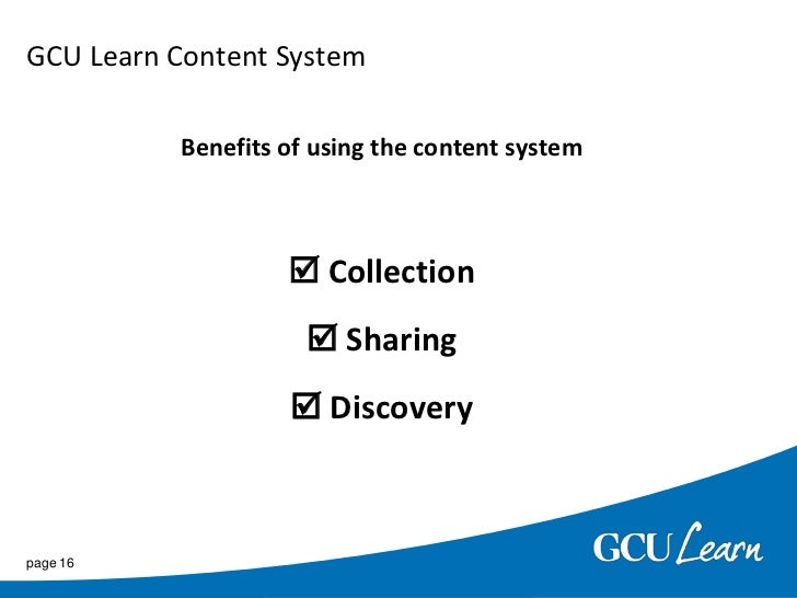 GCU Learn (Blackboard 9.1)</li></ul>page 5<br />