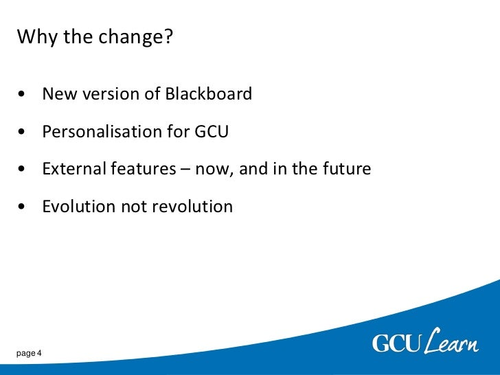 Differences for GCU Staff over Blackboard 8