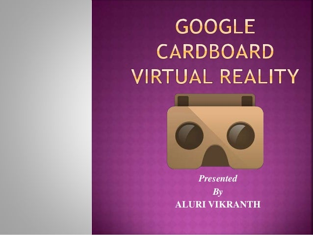 Presented By ALURI VIKRANTH
