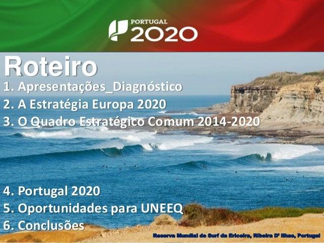 Roteiro Reserva Mundial de Surf da Ericeira, Ribeira D' Ilhas, Portugal 1. Apresentações_Diagnóstico 2. A Estratégia Europ...