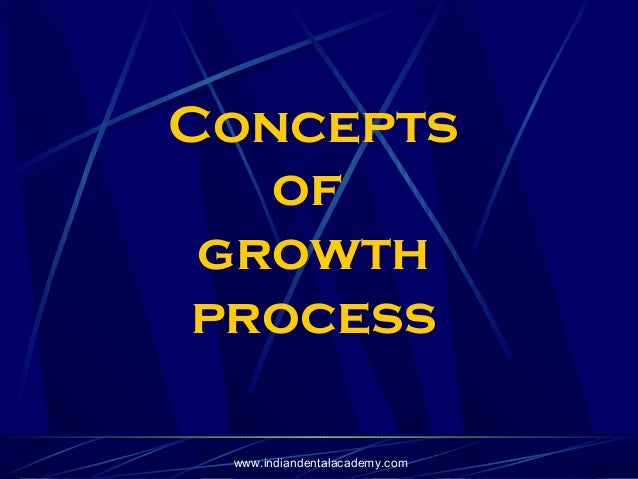 Concepts of growth process www.indiandentalacademy.com