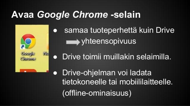 Google Drive (asiakirjan luominen, jakaminen ja kommentointi) Slide 2