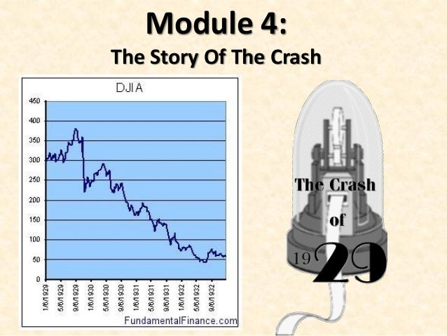 Module 4: The Story Of The Crash