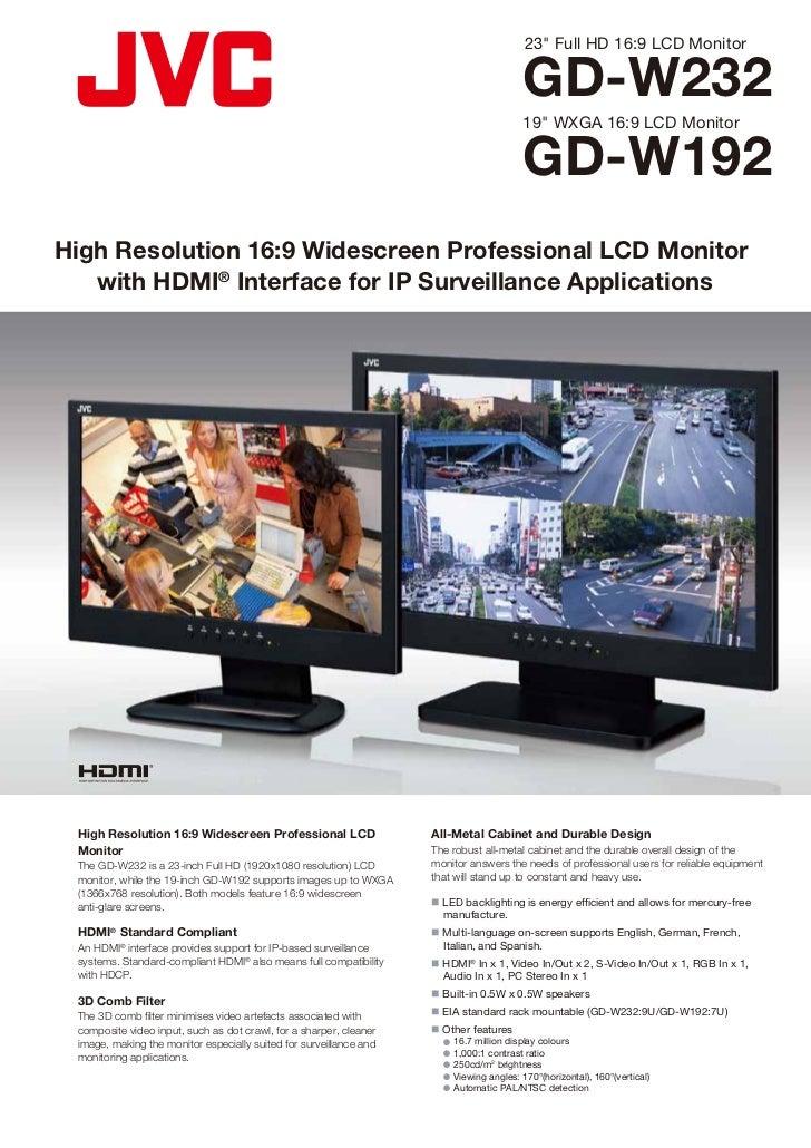 """23"""" Full HD 16:9 LCD Monitor                                                                                          GD-W..."""