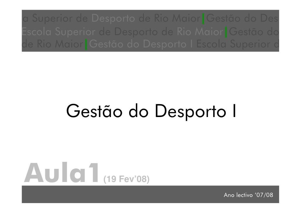 a Superior de Desporto de Rio Maior Gestão do Des Escola Superior de Desporto de Rio Maior Gestão do                      ...