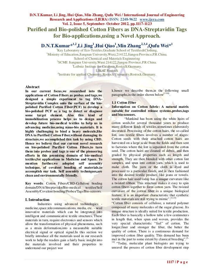 D.N.T.Kumar, Li Jing, Hui Qiao, Min Zhang, Qufu Wei / International Journal of Engineering             Research and Applic...
