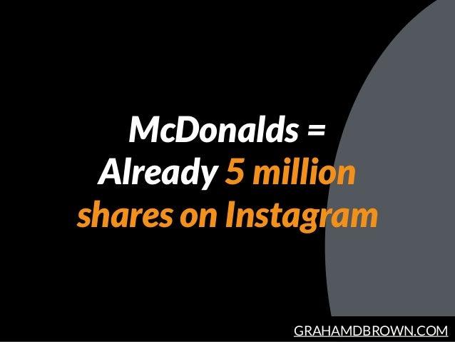 GRAHAMDBROWN.COM McDonalds =  Already 5 million shares on Instagram