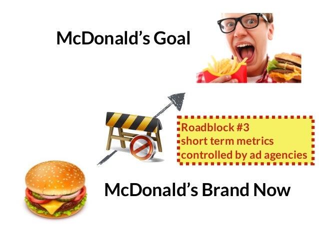 GRAHAMDBROWN.COM131 McDonald's Brand Now McDonald's Goal Roadblock #3 short term metrics controlled by ad agencies