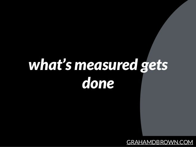 GRAHAMDBROWN.COM what's measured gets done