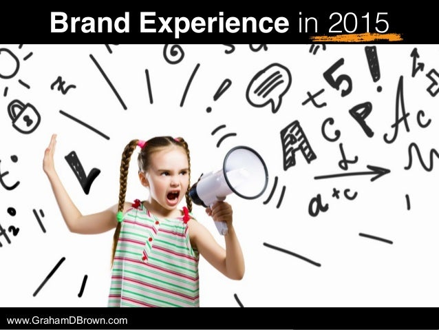 Brand Experience in 2015 www.GrahamDBrown.com