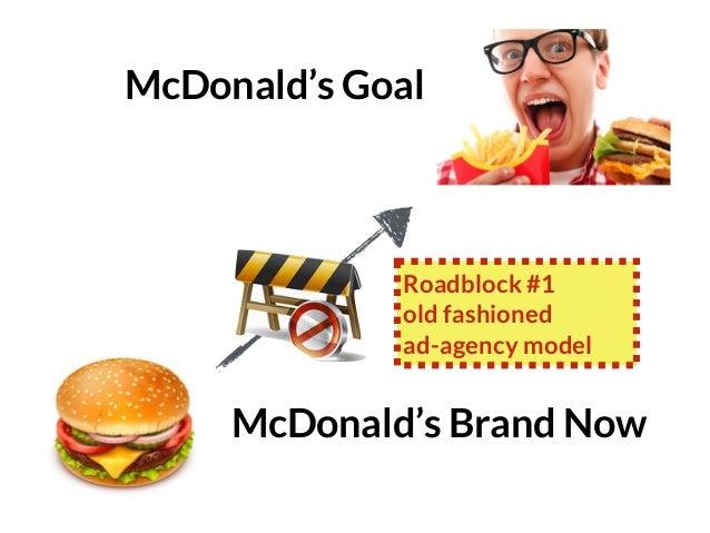 GRAHAMDBROWN.COM75 McDonald's Brand Now McDonald's Goal Roadblock #1 old fashioned ad-agency model