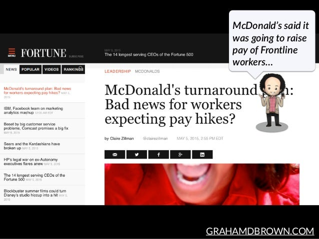 GRAHAMDBROWN.COM McDonald's said it  was going to raise  pay of Frontline  workers…