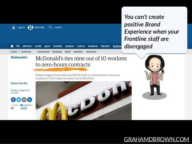 GRAHAMDBROWN.COM You can't create  positive Brand  Experience when your  Frontline staff are  disengaged