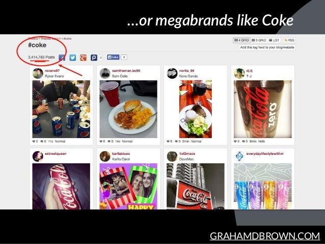 GRAHAMDBROWN.COM …or megabrands like Coke