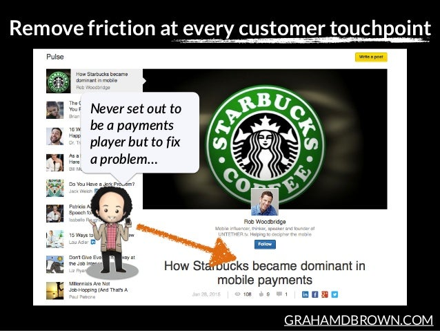GRAHAMDBROWN.COM Remove friction at every customer touchpoint Never set out to  be a payments  player but to fix...